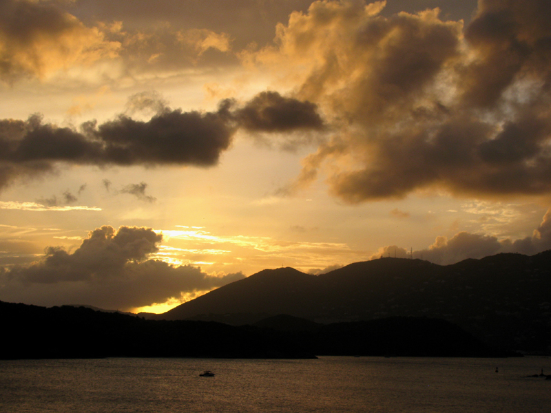 Sunset in St. Thomas USVI